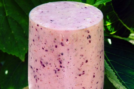 Blueberry, melon and lime smoothie