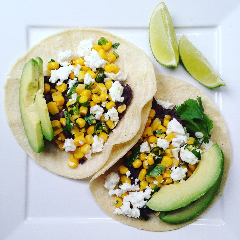 Healthy vegetarian taco recipe