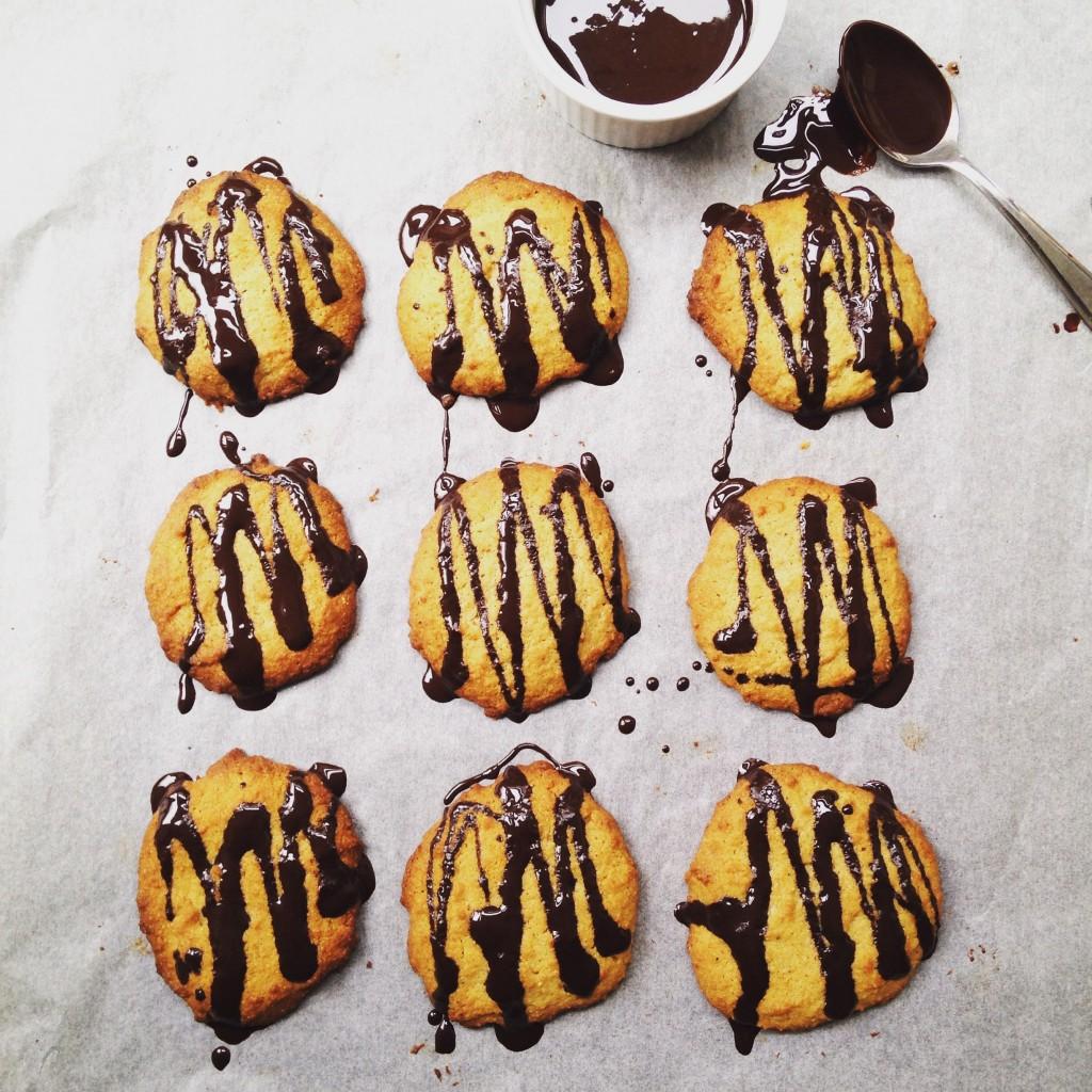 Healthy chocolate orange cookies