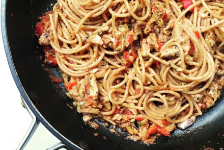 Sardine, lemon and garlic spaghetti recipe