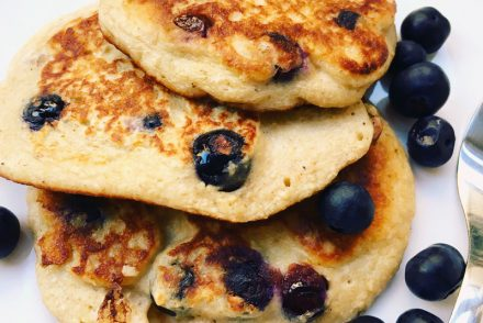 Blueberry and vanilla pancake recipe
