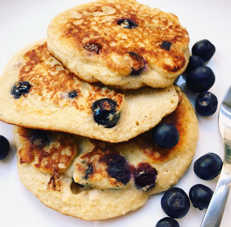 Blueberry and vanilla pancake recipe
