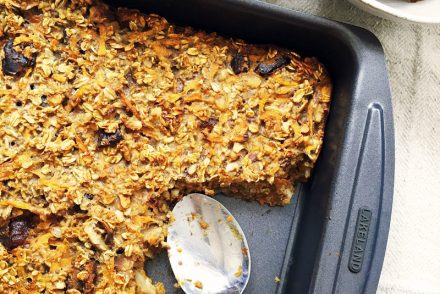 Carrot cake baked oatmeal recipe