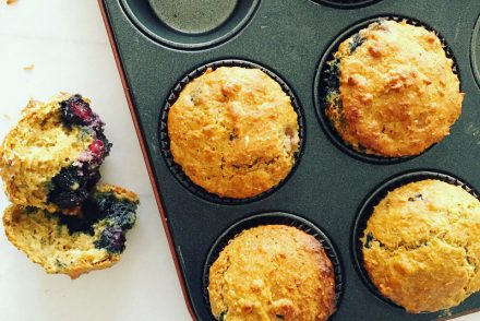 Blueberry and coconut muffins recipe