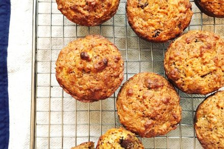 Banana, carrot and orange muffins recipe