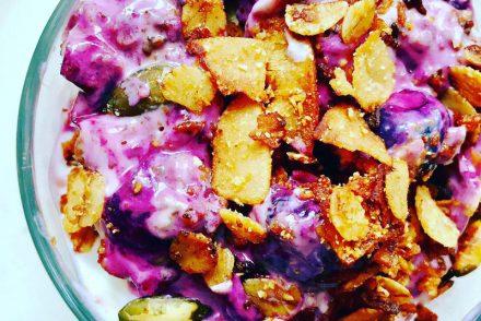 Blueberry crisp breakfast pot recipe