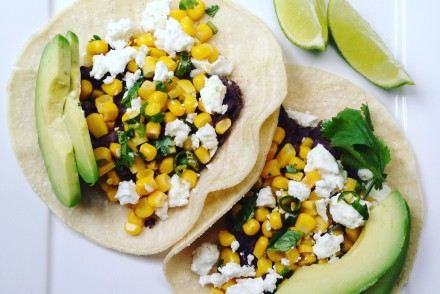 Healthy vegetarian taco recipe