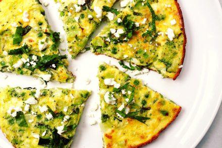 Healthy veggie and feta frittata recipe