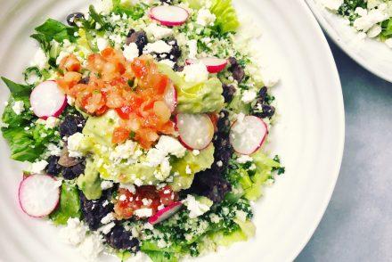 Veggie cauliflower, kale and bean burrito bowl recipe
