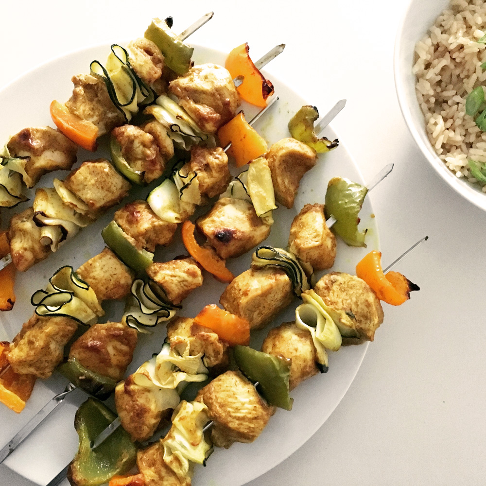 Peanut Butter Chicken Satay Skewers Healthy Eating Recipes Eatwise