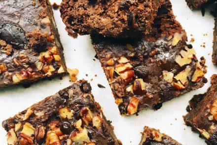 Black bean and pecan brownie recipe