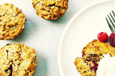 Raspberry, peanut butter oat bites recipe