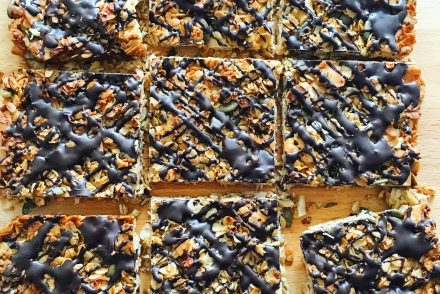 Chocolate and coconut flapjack recipe