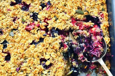 Baked berry coconut oatmeal recipe