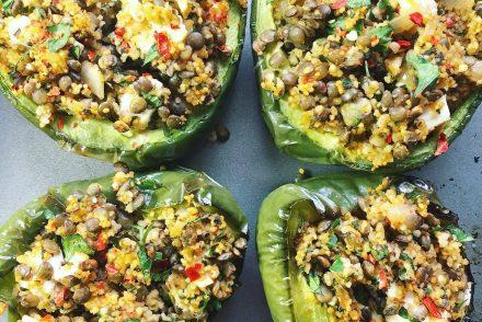 Lentil stuffed pepper recipe